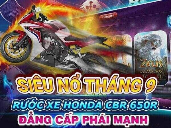 Nổ Hũ Club giftcode game 12/9/2020: Siêu Nổ tháng 9 – Rước xe Honda CBR