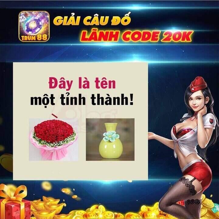 Trùm88 giftcode game 15/9/2020: Giải câu đố – Nhận Code Vip 20k
