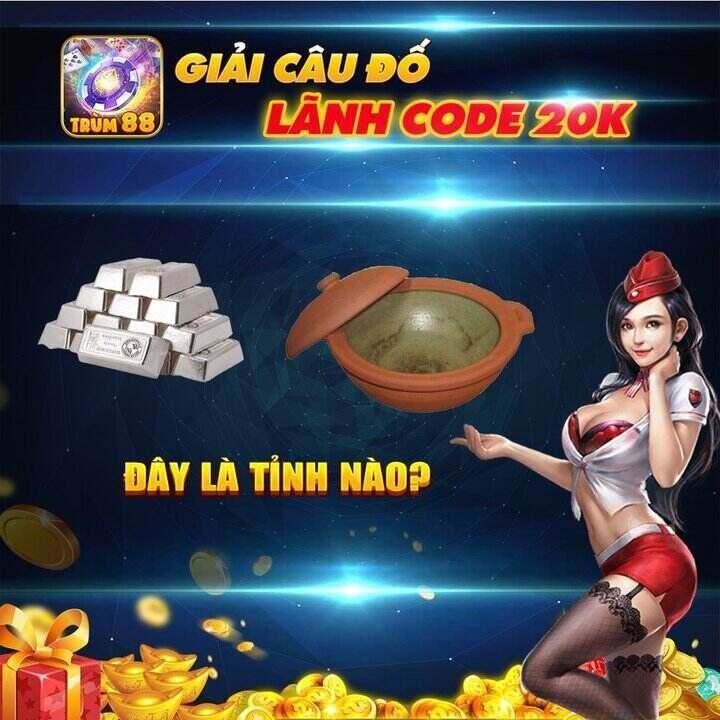 Trùm 88 giftcode game 22/9/2020: Giải đố nhận ngay Code 20k
