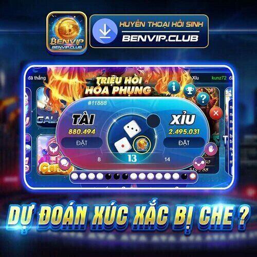 BenVip Club giftcode game 21/11/2020: Đoán Tài Xỉu – Nhận Code Xịn