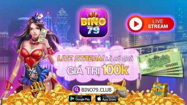 Bino79 Club giftcode game 11/11/2020: Đua Top Livestream – Nhận Ngay 100k