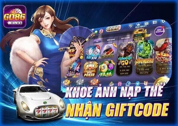 Go86 Club giftcode game 20/11/2020: Khoe ảnh nạp thẻ – Nhận Code 50k