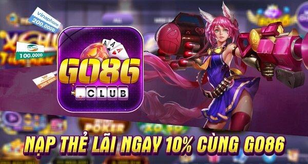 Go86 Club giftcode game 18/11/2020:  Nạp thẻ nhận Code khủng