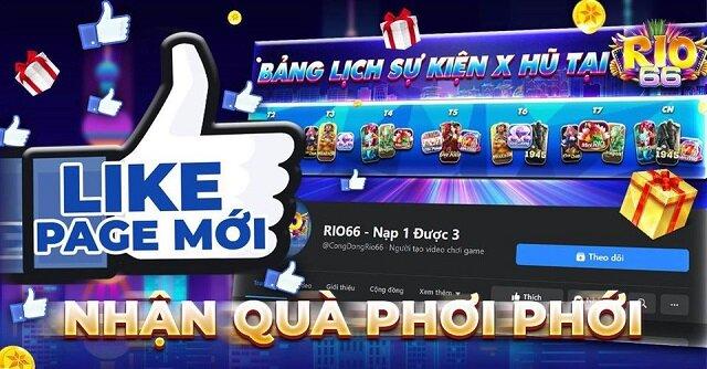 Rio66 Club giftcode game 21/11/2020: Like page mới – Nhận quà phơi phới