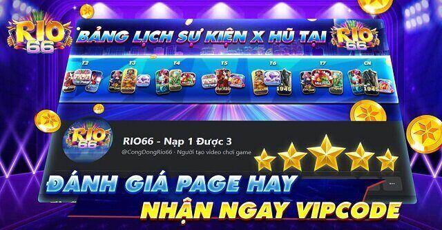 Rio66 Club giftcode game 24/11/2020: Đánh giá Page hay – Nhận ngay Vip Code