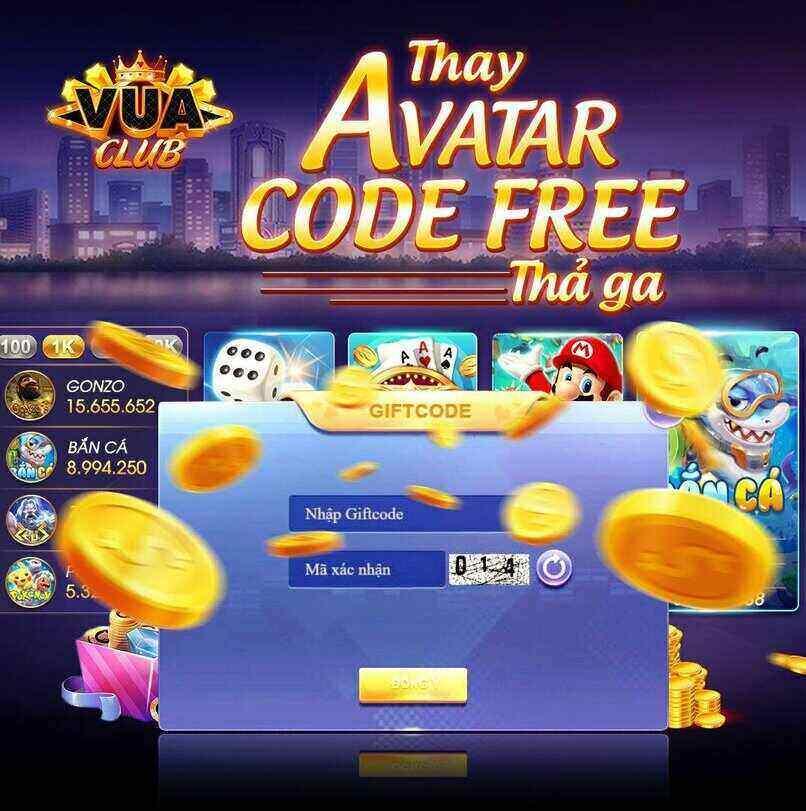 Vua Club giftcode game 10/11/2020: Thay Avatar – Code free thả ga