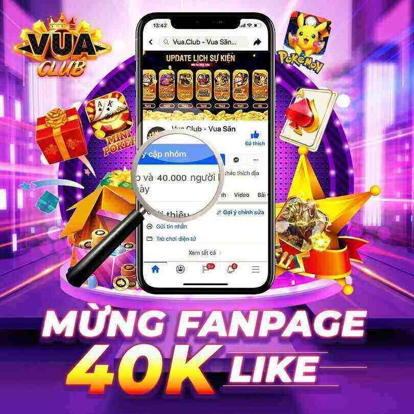Vua Club giftcode game 16/11/2020: Mưa Code mừng Fanpage đạt 40k like