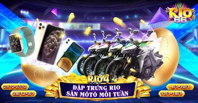 Rio66 Club giftcode game 21/12/2020: Big Event Rio4 – Đập Trứng Săn Moto