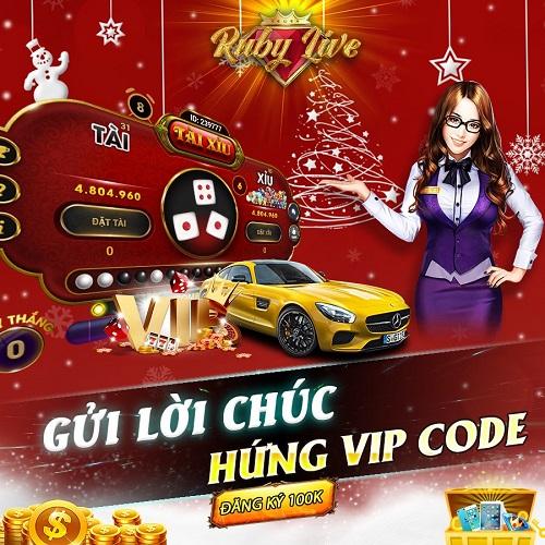 Ruby Live giftcode game 19/12/2020: Gửi lời chúc – Hứng Vip Code