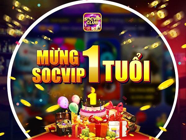 SocVip Club giftcode game 20/12/2020: Tặng quà mừng sinh nhật 1 tuổi