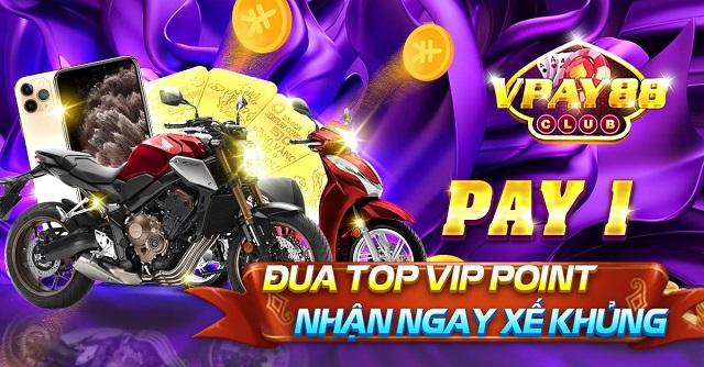 VPay88 Club giftcode game 20/12/2020: Đua Top Pay1 – Rước Siêu Xế CB1000R