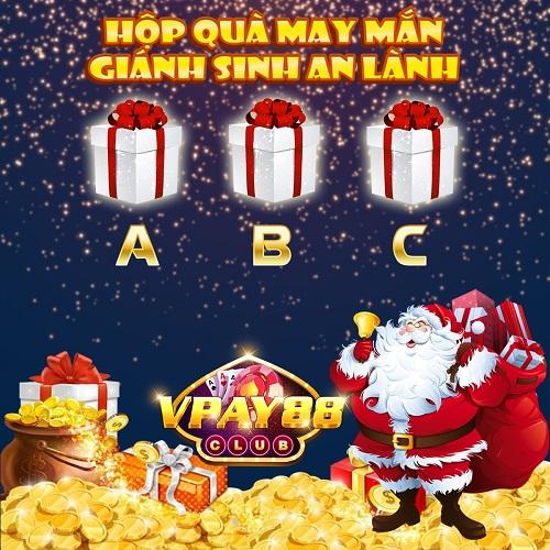 VPay88 Club giftcode game 25/12/2020: Hộp quà may mắn – Giáng Sinh an lành
