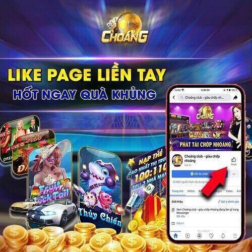 Choáng Club giftcode game 5/12/2020: Like Page liền tay – Hốt ngay quà khủng