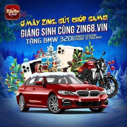 Zindo Club giftcode game 5/12/2020: Giáng Sinh cùng Zin68 – Tặng BMW 320i