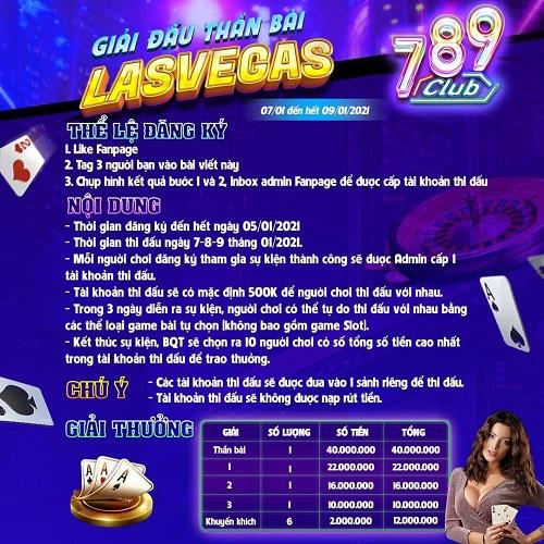 789 Club giftcode game 6/1/2020: Siêu giải đấu Thần Bài Las Vegas