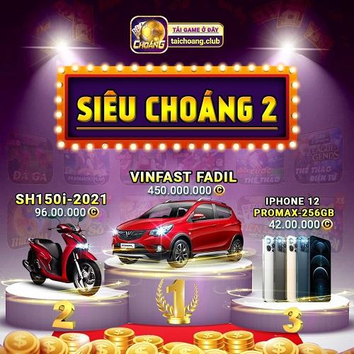 Choáng Club giftcode game 11/1/2020: Sự kiện Siêu Choáng 2 – Đua Top săn Vinfast Fadil