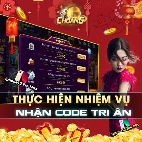 Choáng Club giftcode game 7/1/2020: Thực hiện nhiệm vụ – Nhận Code tri ân