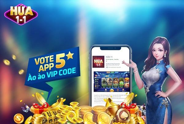 Hứa 11 giftcode game 7/1/2020: Vote App 5 sao – Ào ào Vip Code