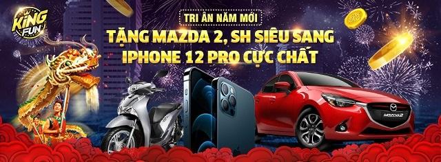King Fun giftcode game 6/1/2020: Đua Top tri ân – Rinh Mazda rinh luôn Code khủng
