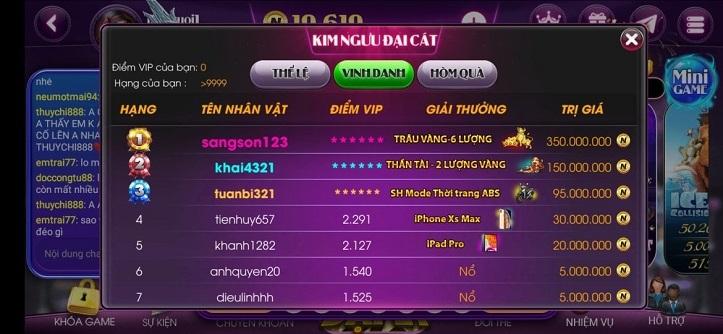 Nổ Hũ Club giftcode game 11/1/2020: Siêu Nổ 17 – Kim Ngưu Đại Cát