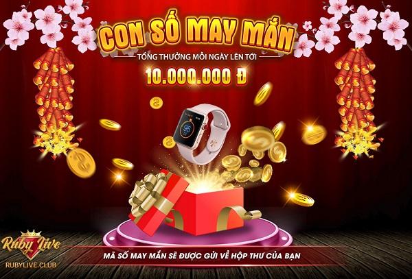 RuBy Live giftcode game 6/1/2020: Con số may mắn – Nhận thưởng mỗi ngày