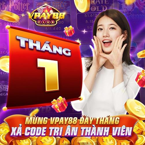 VPay88 Club giftcode game 11/1/2020: Mừng đầy tháng – Xả Code tri ân