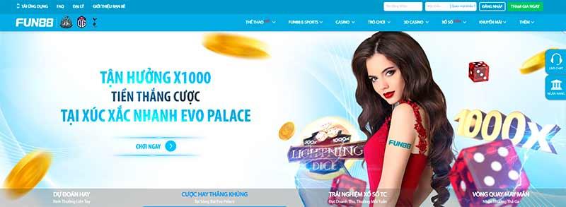 Fun88 - Top nhà cái casino có tỷ lệ cược online cao ngất ngưỡng